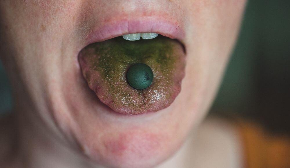 dilde yeşil renk