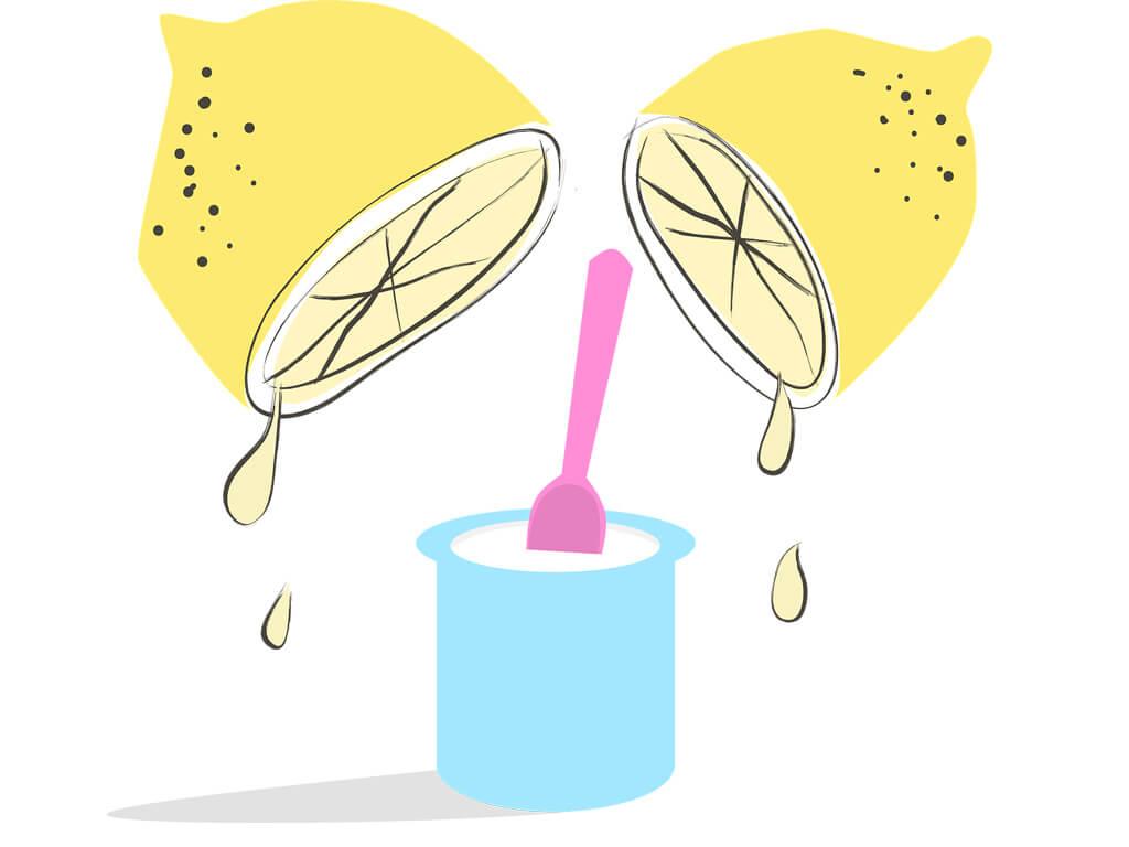 limon suyu yoğurt maskesi