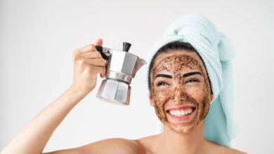 kahve telvesi maskesi