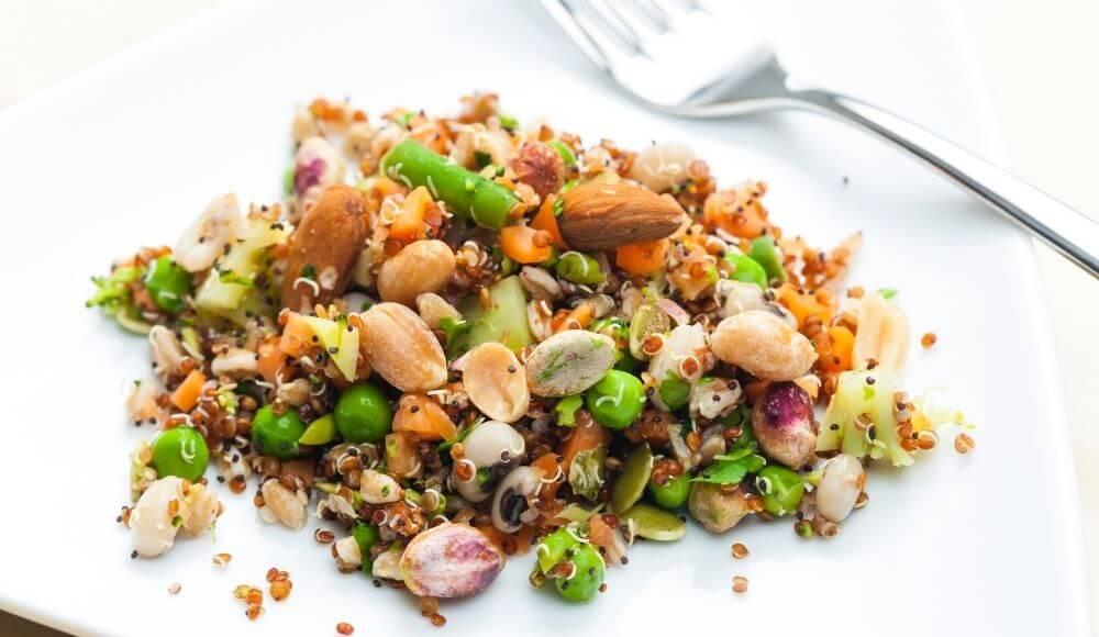 kış salatası çeşitleri baklagiller salatası