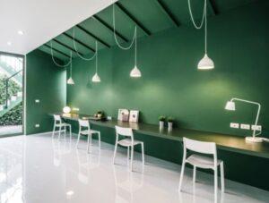 dekorasyonda yeşil tonları