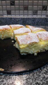yağsız muhallebili elmalı kek tarifi!